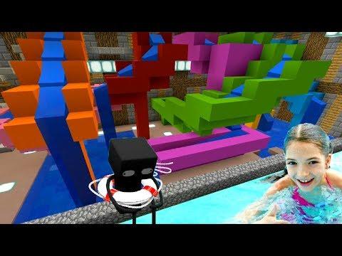 Аквапарк в мире Майнкрафт! Катаемся на водных горках со Светой