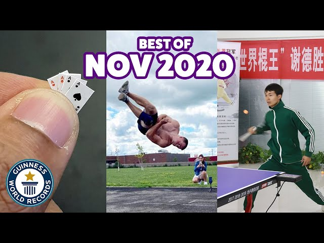 Play this video Best of November 2020 - Guinness World Records