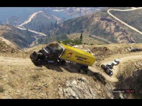 Gta 5 Dump Truck Location Gta 5 Trailer Truck Terror