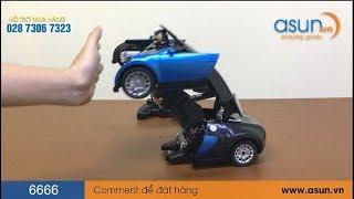 Xe Bugatti Điều Khiển Robot Cảm Ứng Tay Biến Hình Transformer 6666 - Asun.vn