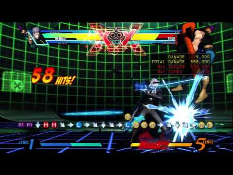 UMVC3 BR - Vergil 1 Million + Damage Starting With 1 Meter WITH DHC By Kain