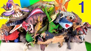 Learn about Dinosaurs, Wild Animals, Marine Reptiles, Prehistoric, Zoo, NEW animals Toy Collection