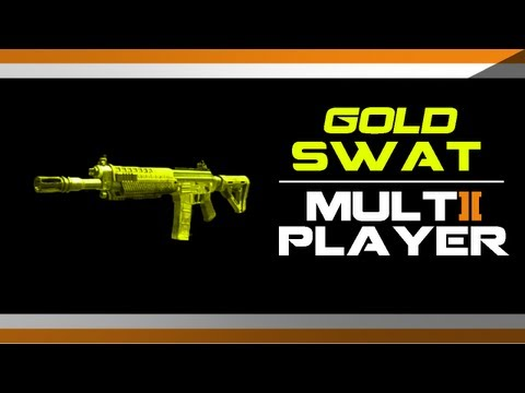 Black Ops 2 GOLD SWAT Camo Gameplay - How to get Gold SWAT Camo