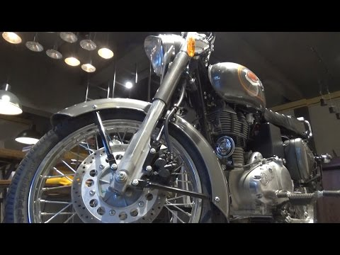 NEW ROYAL ENFIELD BULLET 500 BS-IV AHO MARSH GREY COLOR WALK AROUND REVIEW