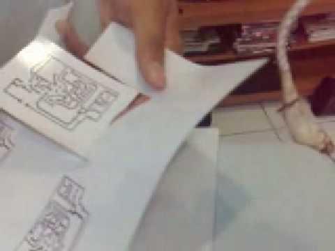 Laser printer pcb etching