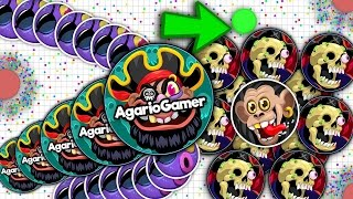 Agar.io -  Insane Tricks Best Moments Popsplits King, Linesplit x6 , Baits (140.000 Highscore )