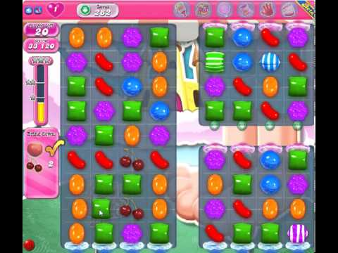 Candy Crush Saga Level 282 - 3 Star - no boosters