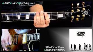 [ LINKIN PARK - What i've done ] how to play part 1/2 [ guitar cover ]
