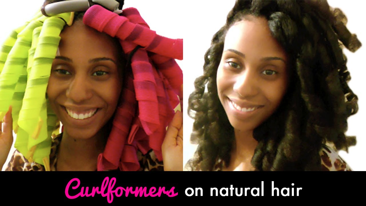 Curlformers Barrel Curls Natural Hair Curlformers on Natural Hair