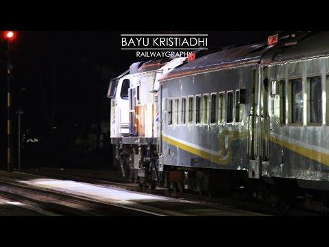 [141] KA Gajayana Bersilang dengan [100] KA  Malabar    INDONESIAN RAILWAYS / KERETA API INDONESIA