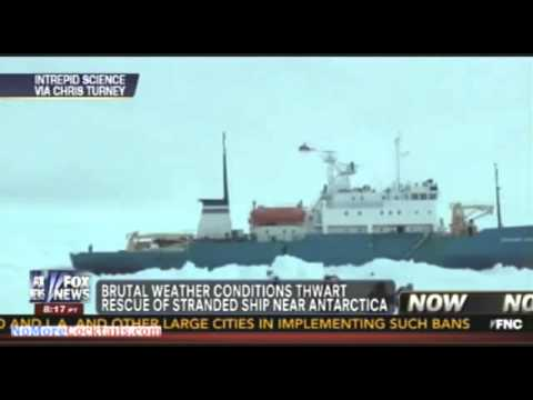 Helicopter will be used to rescue crew and passenger of Russian ship stuck in Antarctica
