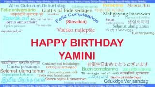Yamini   Languages Idiomas - Happy Birthday