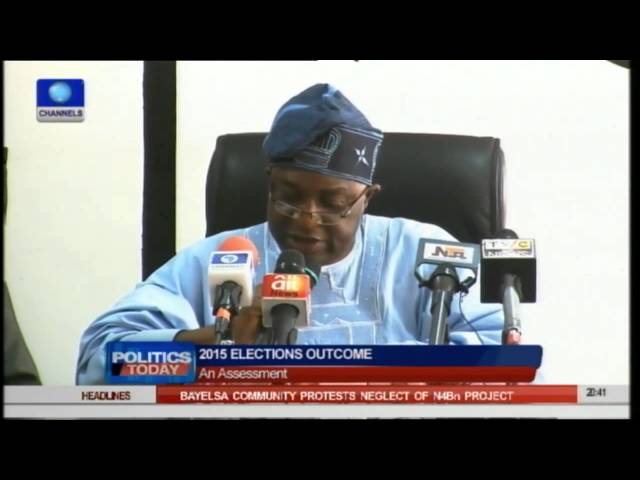 Lai Mohammed's Statement On Handover Unnecessary - Bode George -- 10/05/15  Part 4