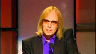 Tom Petty and Jeff Lynne induct George Harrison Rock and Roll Hall of Fame 2004