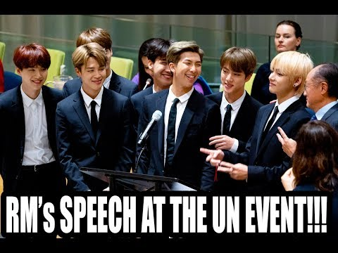 "[FULL] BTS | RM Speech United Nations UNICEF ""Youth 2030"" 