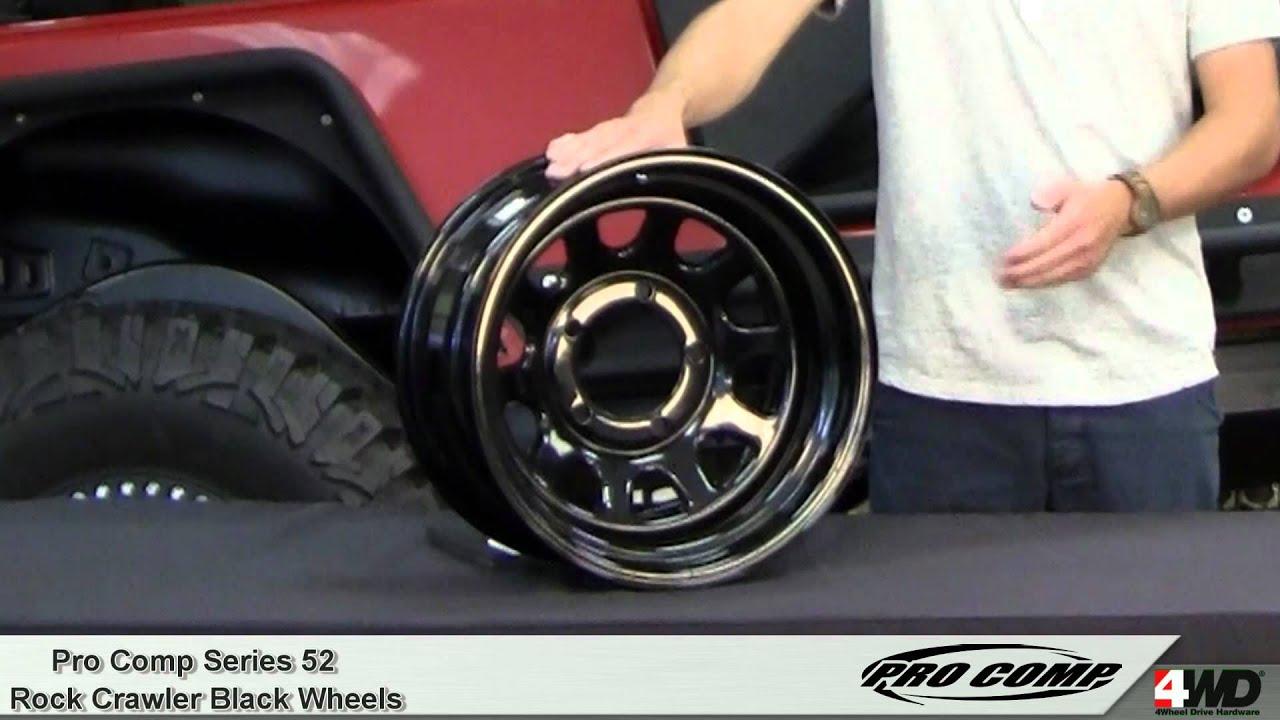 Pro Comp Wheels Series 52 Rock Crawler Black Steel Wheels