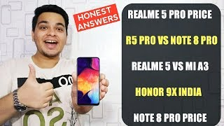 Realme 5 Pro Price,Realme 5 Pro Vs Note 8 Pro,Realme 5 Vs Mi A3,Honor 9X India 🔥🔥