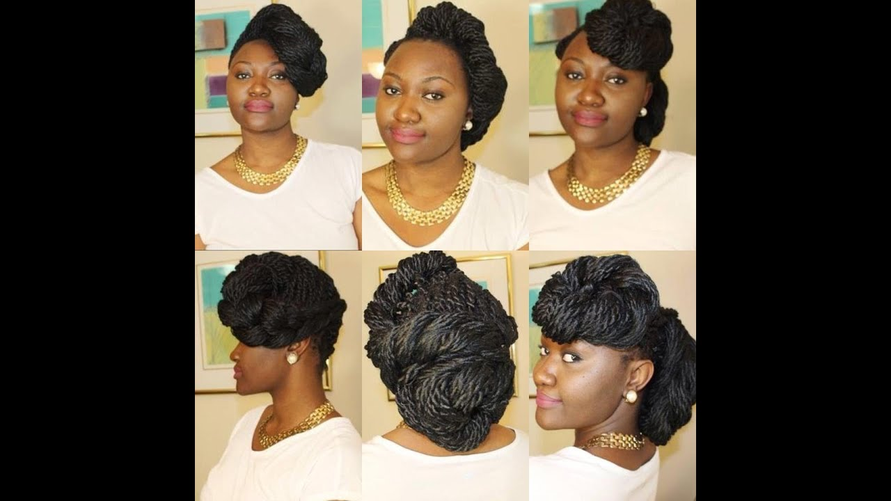 Box Braids Or Twist Hairstyles Special Occasion Youtube