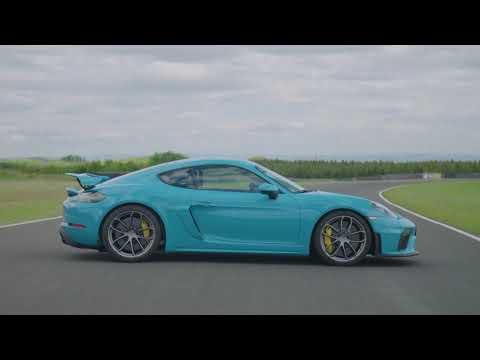 2020 Blue Porsche 718 Cayman GT4