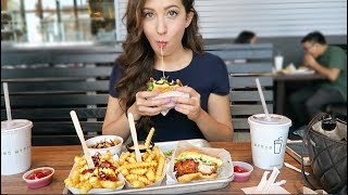 SHAKE SHACK Cheeseburger + Bacon Cheesy Fries! MUKBANG Eating Show VLOG | MEESH LA