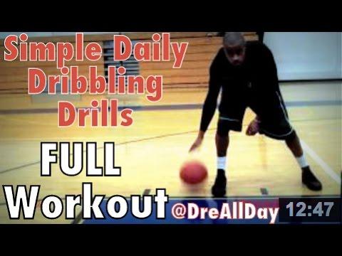 Simple Daily Dribbling Drills: FULL Workout | Basketball Fundamental Dribbling Drills | Dre Baldwin