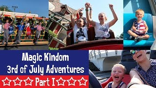Magic Kingdom July 3rd - Part I - WDW July 2019