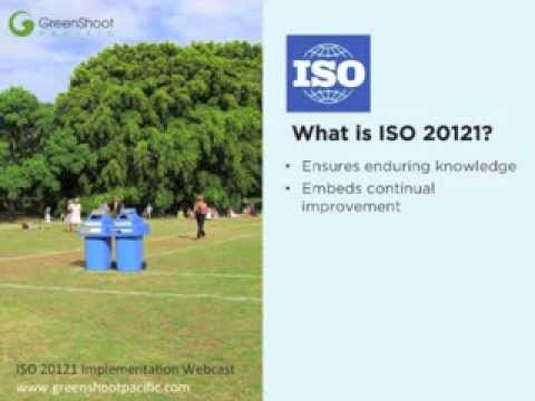 iso 20121 Iso 20121 is the international standard for event sustainability management systems see the benefits of iso 20121 certification when planning your next event.
