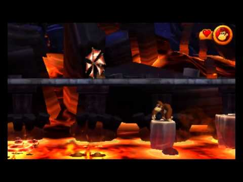 Donkey Kong Country Returns 3D - 200% Walkthrough (Mirror Mode) - World 8 Volcano (All KONG Letters)