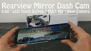 Chicom Full HD Mirror Dash Cam Review : 1080p Front & Rear Cameras