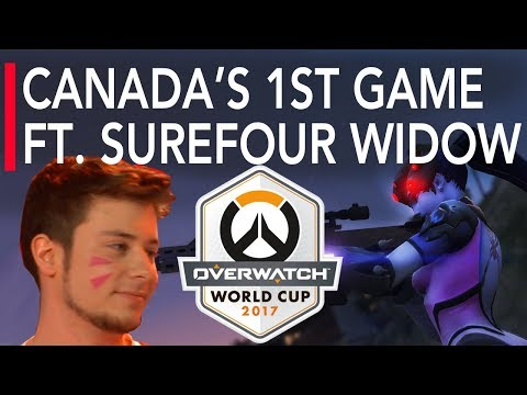 Overwatch Gameplay - Surefour Widowmaker in Canada's 1st Game at Overwatch World Cup vs Turkey