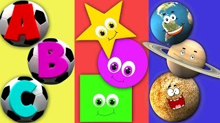 ABC Song For Children | Shapes Song For Kids | Planets Nursery Rhyme For Toddlers