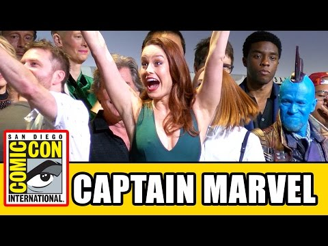 CAPTAIN MARVEL Comic Con Panel Brie Larson Announcement