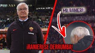 Ranieri SE CAE A PEDAZOS a medio partido por una Pancarta