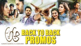 A Aa || Back to Back Promos || Nithin || Samantha || Trivikram Srinivas || Mickey J Meyer