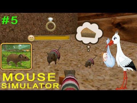 Симулятор Мыши #5 РОЖДЕНИЕ Ребеночка! Детское видео Игровой мультик Let's play