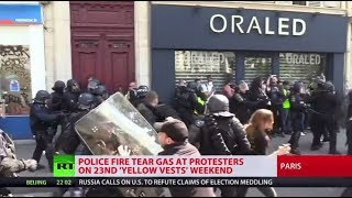 Yellow Vests fever: 137 protesters arrested in Paris, massive riots continue