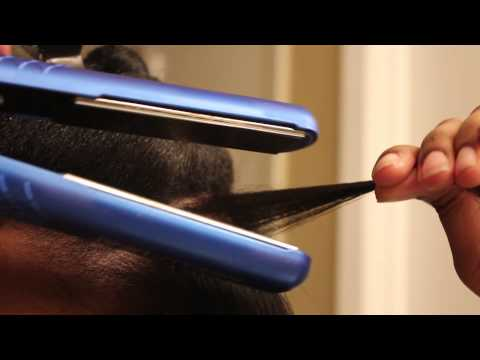 How I flat iron/ Heat train my 4c Natural Hair