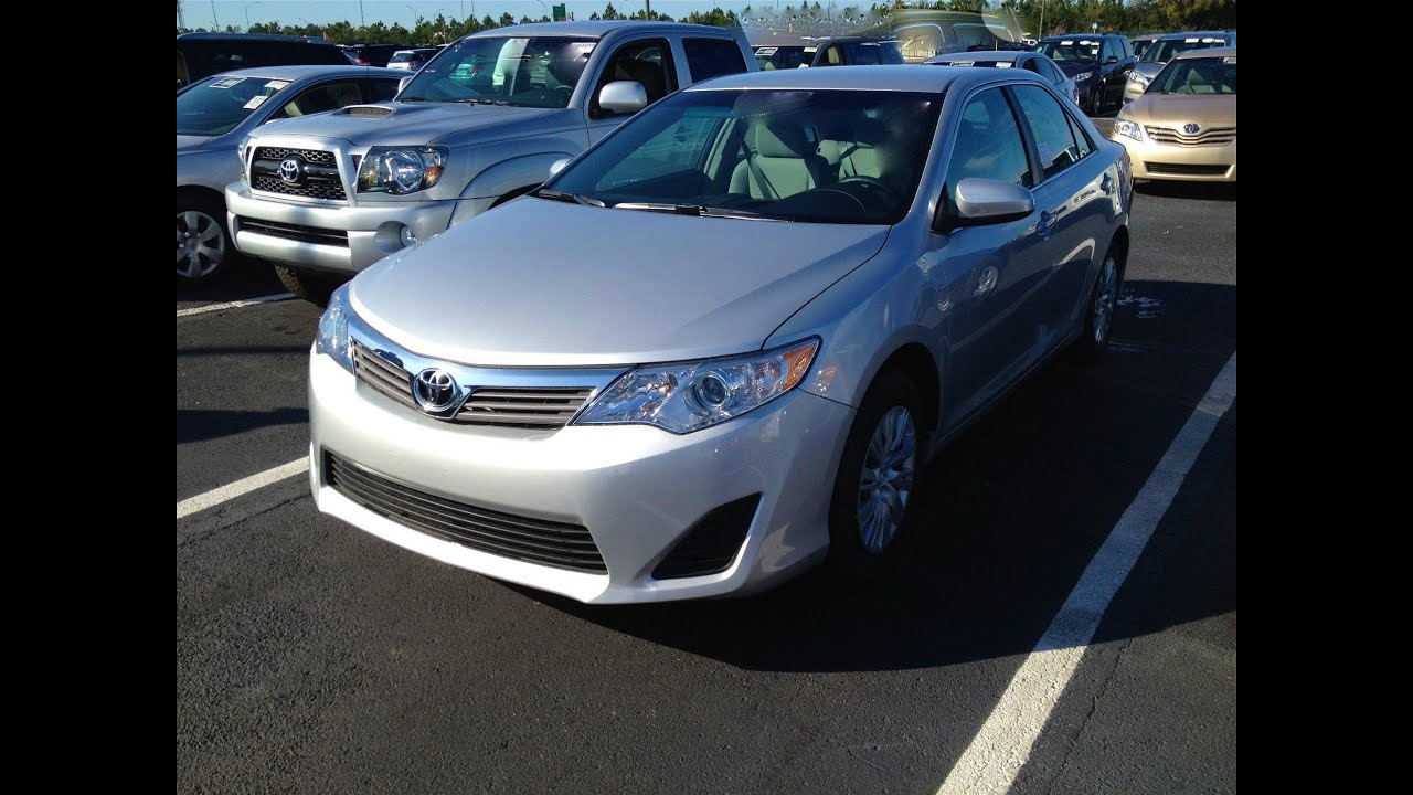 2012 toyota camry l start up quick tour rev with exhaust view 8 miles new youtube. Black Bedroom Furniture Sets. Home Design Ideas