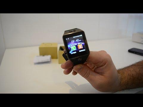 Relógio Smartwatch DZ09 relógio inteligente Unboxing análise em Português-br