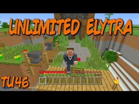 ✔️ TU46 UNLIMITED ELYTRA GLITCH!!! - Minecraft console XBOXONE + PS4