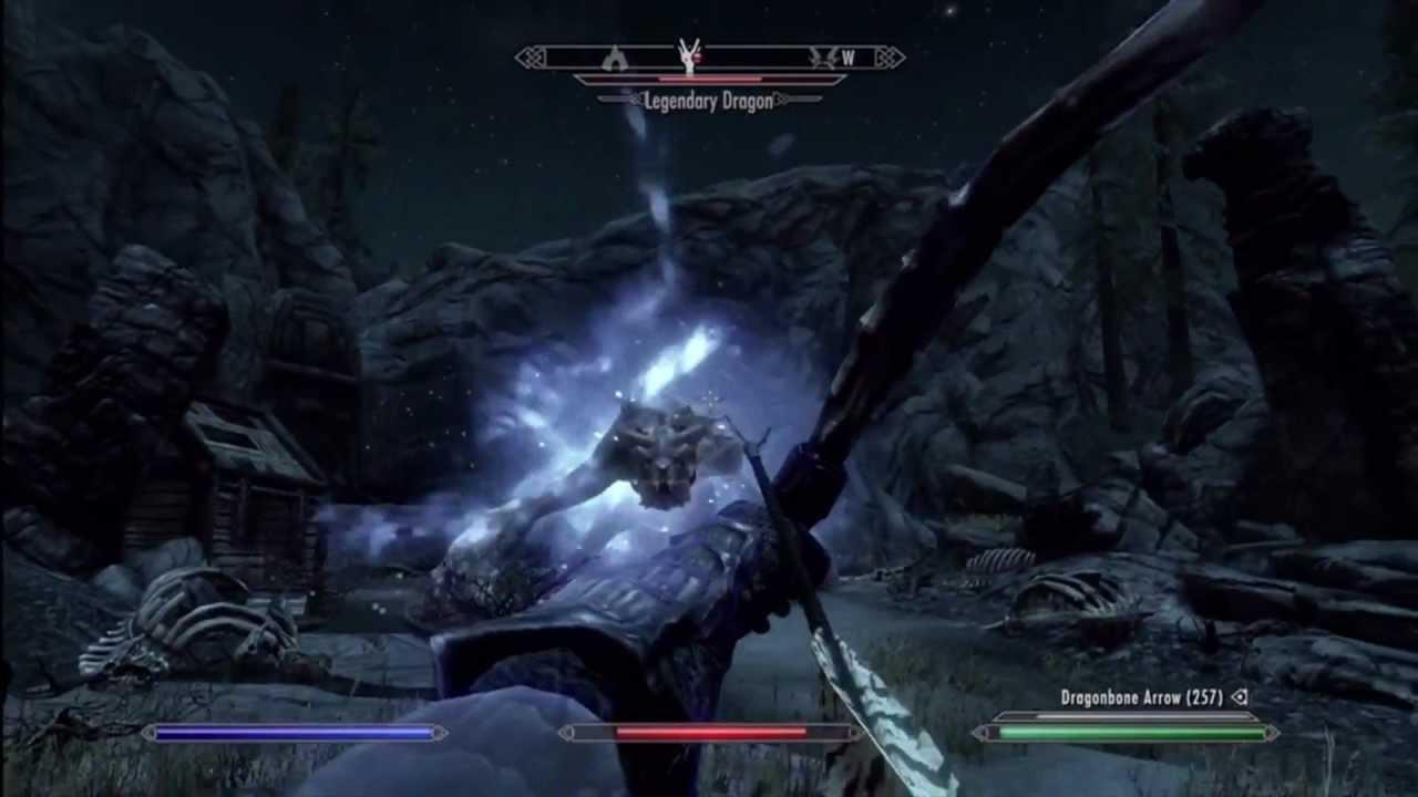 Skyrim legendary dragon achievement - YouTube