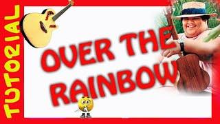 Como tocar OVER THE RAINBOW tutorial Guitarra  Explicacion del rasgueo