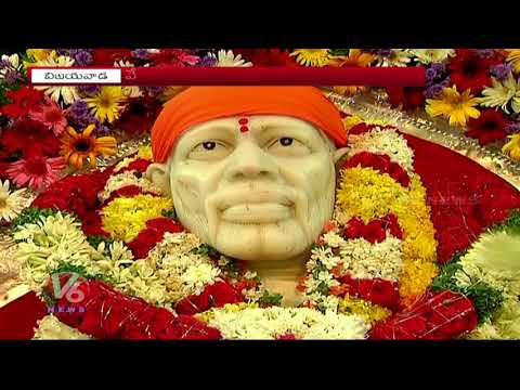 Devotees Throng To Sai Baba Temples On The Eve Of Guru Purnima | Vijayawada | V6 News