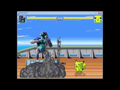 Blizzard vs Pikachu - Zenmen Hakai V1 - Mugen Circuit