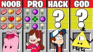 Minecraft Battle: GRAVITY FALLS CRAFTING Challenge ~ NOOB vs PRO vs HACKER vs GOD - Animation