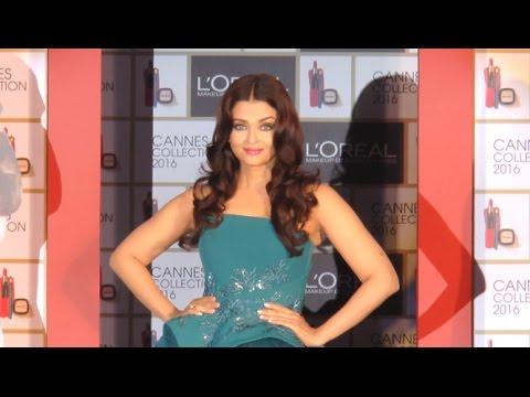 Beautiful Aishwarya Rai At L'Oreal Paris Cannes 2016 Collection Launch