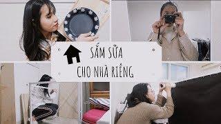 Mua đồ cho nhà riêng [HAUL]|Ở RIÊNG|DU HỌC SINH HÀN QUỐC ♡ Rin Go