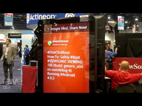 DSE 2015: ViewSonic Highlights the 50-Inch Interactive All-In-One Digital Kiosk