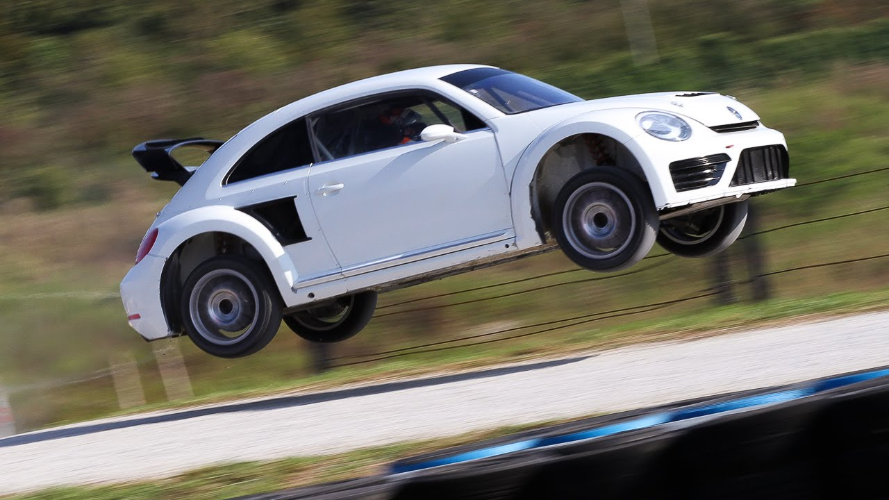Vw Beetle Test >> Rallycross VW Beetle Racecar LOUD Sound [HD] - YouTube