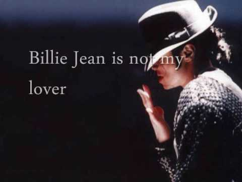 """Billie Jean"" by Michael Jackson w/ Lyrics"